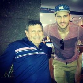 Faf Du Plessis With His Father