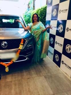 Hema Malini With Her Car