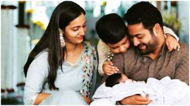 Jr. NTR With His Children