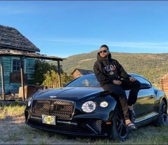 Karan Aujla With His Car
