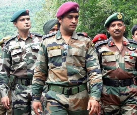 M. S. Dhoni as an Army Officer