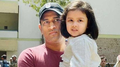 Mahendra Singh With His Daughter