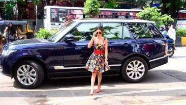 Malaika Arora With Her Car