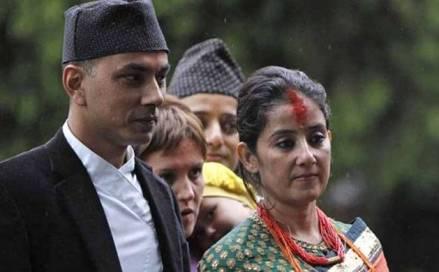 Manisha Koirala With Samrat Dahal