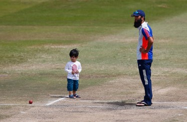 Moeen Ali With His Son