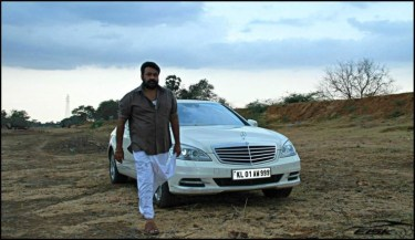 Mohanlal With His Car