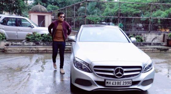 Mohsin Khan With His Car