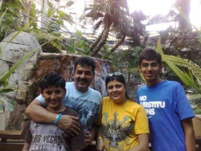 Mridul Madhok With His Family