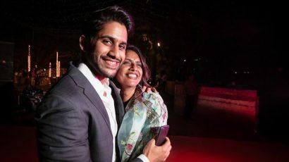 Naga Chaitanya With His Mother