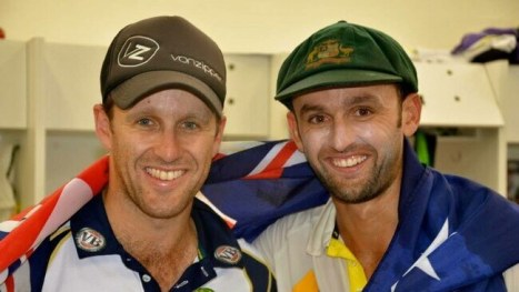 Nathan Lyon With His Brother