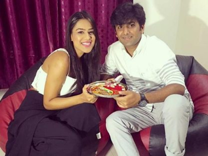 Nia Sharma With Her Brother