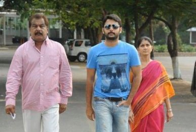 Nithin With His Father And Mother