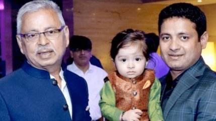 Piyush Chawla With His Father