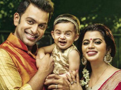 Prithviraj Sukumaran With His Daughter