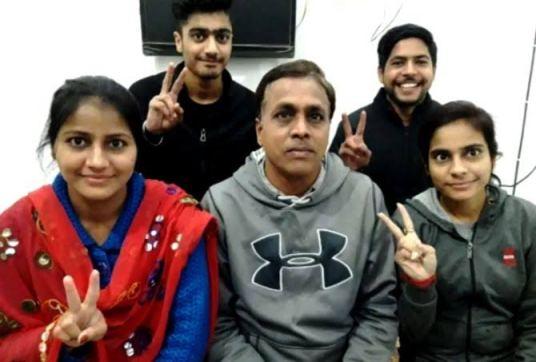 Priyam Garg with his Family