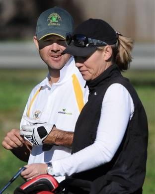 Ricky Ponting With His Sister