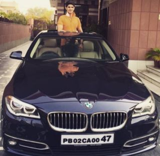 Rohan Mehra With His Car