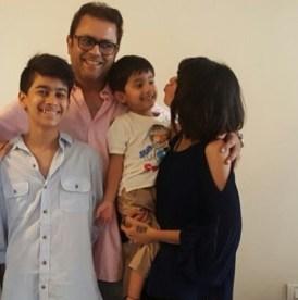 Sanjeev Seth With His Children's