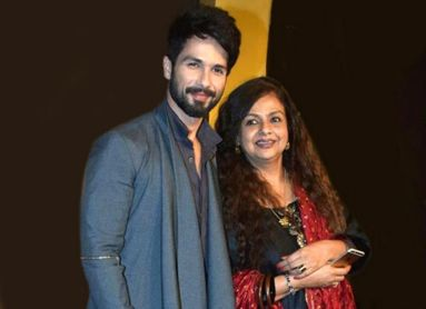 Shahid Kapoor With His Mother