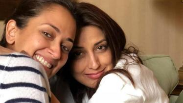 Sonali Bendre With Her Sister