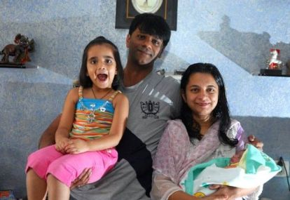 Tanmay Vekaria With His Family