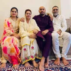 Avesh Khan With His Family