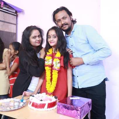 kavya Yadav With Her Father And Mother