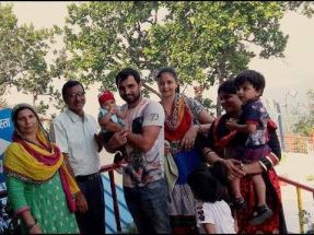 mohammed shami with his family