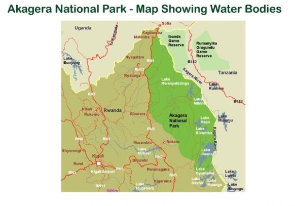 Map of Akagera National Park