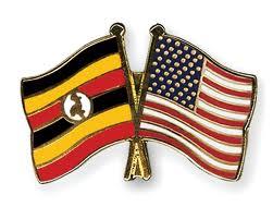 usa uganda national flags