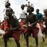 kids in northern uganda dancing