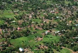ariel view of uganda