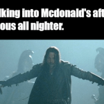 Walking Into McDonald's