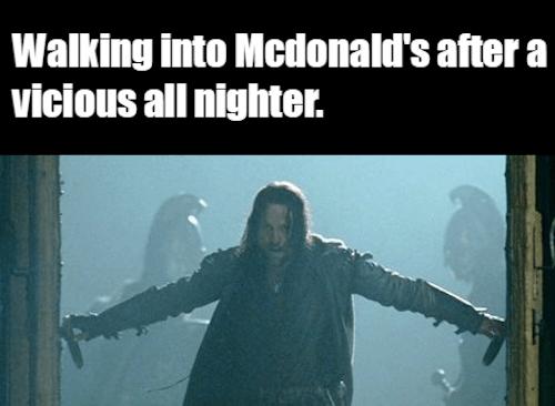 Walking Into McDonalds