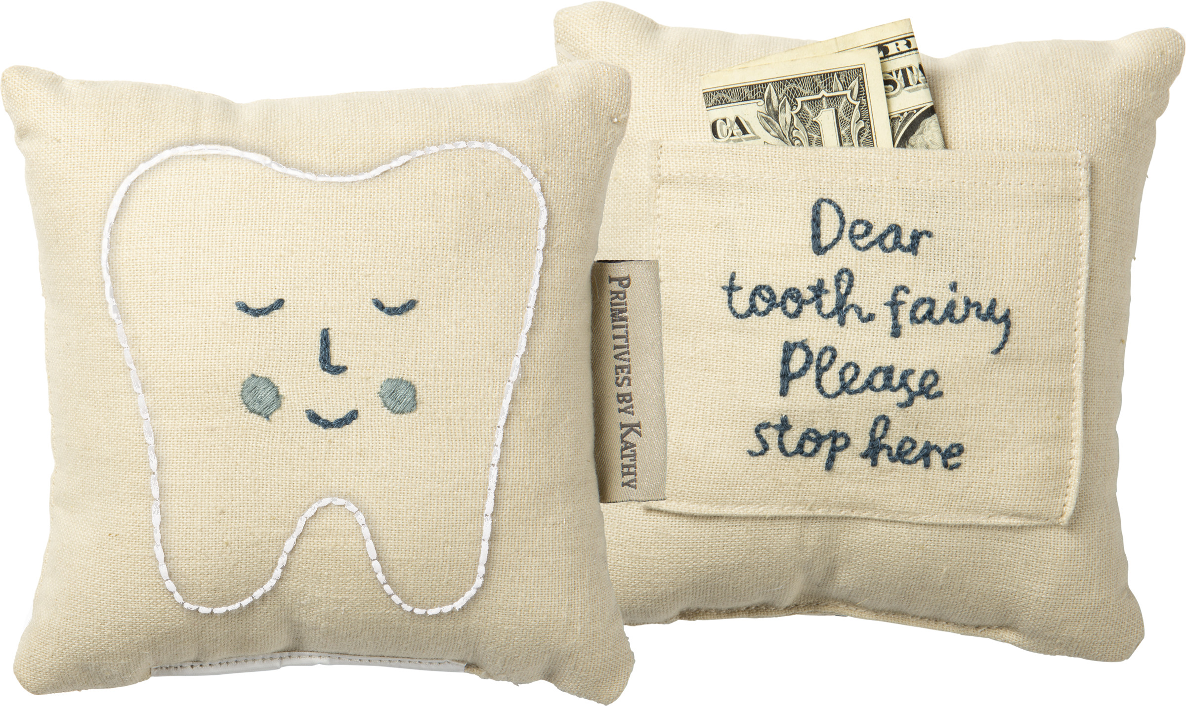 pillow tooth fairy blue baby kids