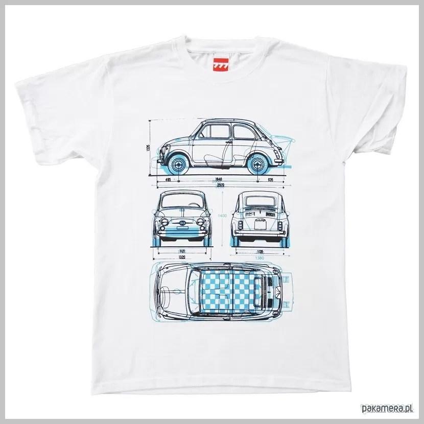 koszulka Fiat 500, koszulki na prezent, koszulki z fajnym napisem