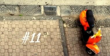 Vespa, włoskie inspiracje, orange vespa, ciekawe miejsca we Włoszech