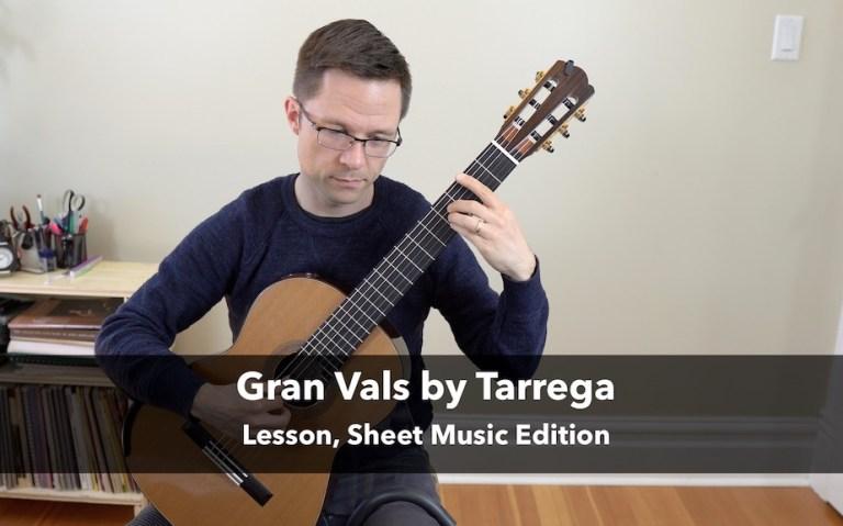 Gran Vals by Tarrega – Free Sheet Music, or Tab