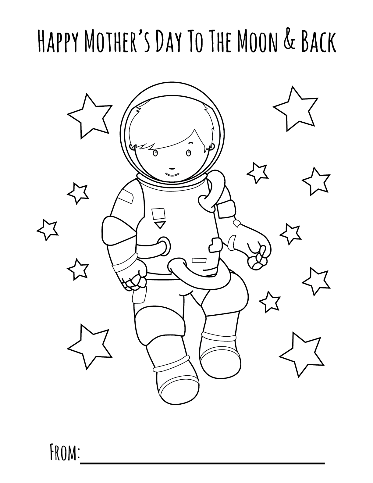 Moon Boy Mother S Day Printable Coloring Page Primoparty