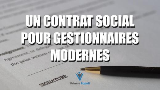 Un contrat social pour gestionnaires modernes