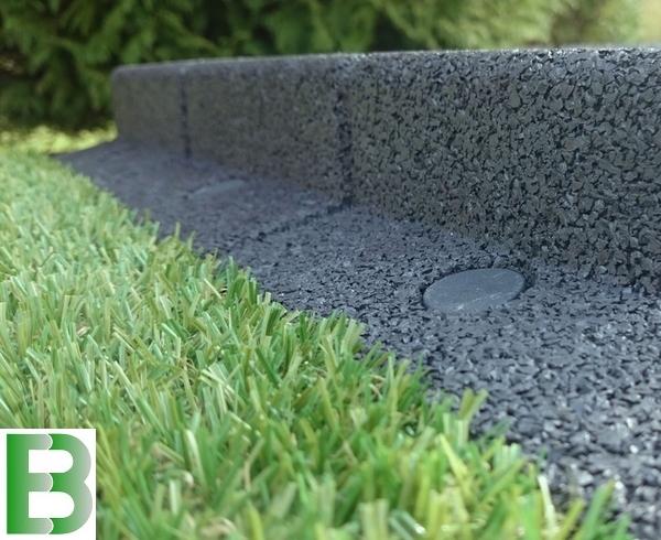 10m bande de jardin flexible couleur grise l1m h8cm pack de 10 x 1m by ecoblok