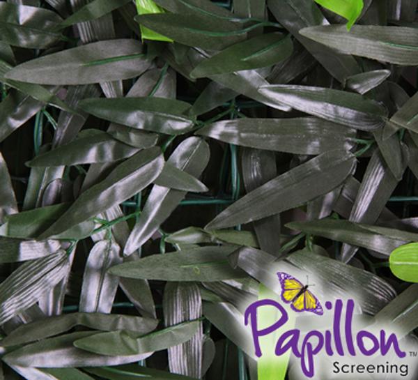 haie artificielle feuillage de bambou artificiel 1m x 3m papillon