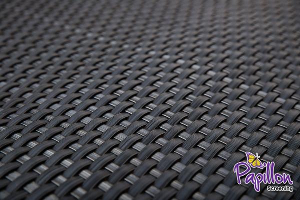 brise vue rotin artificiel tisse gris pour clotures 1m x 1m par papillon