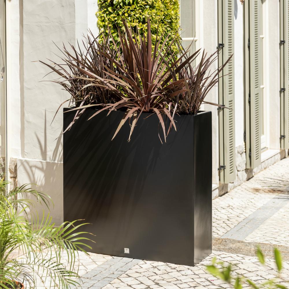 90 cm grande jardiniere noire