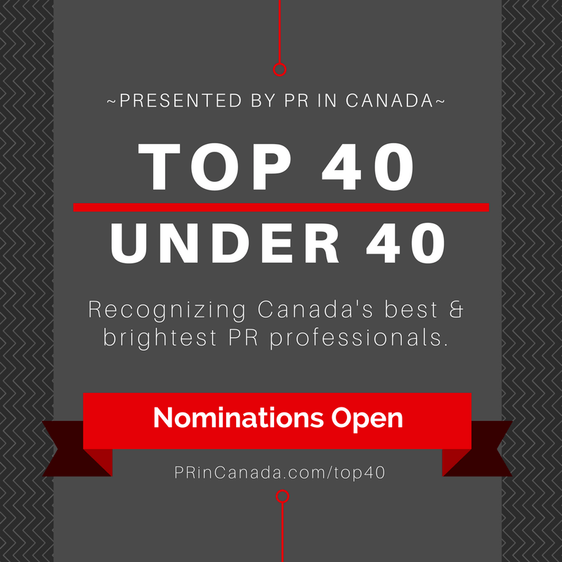 Top 40 Under 40 PR In Canada