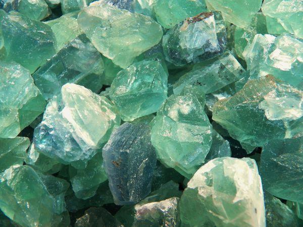 Green flourite energy stone