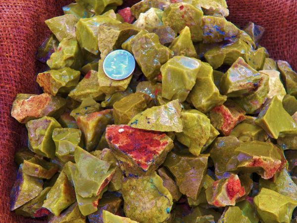 Green Opal rocks and minerals healing properties