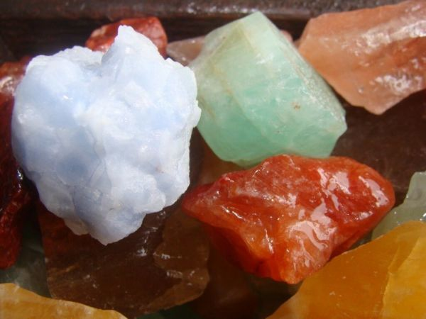 Mixed calcite crystal for sale