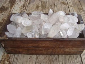 Large QUartz points healing crystals