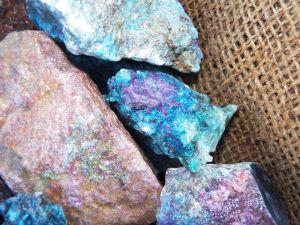 rubby sapphire rough stones